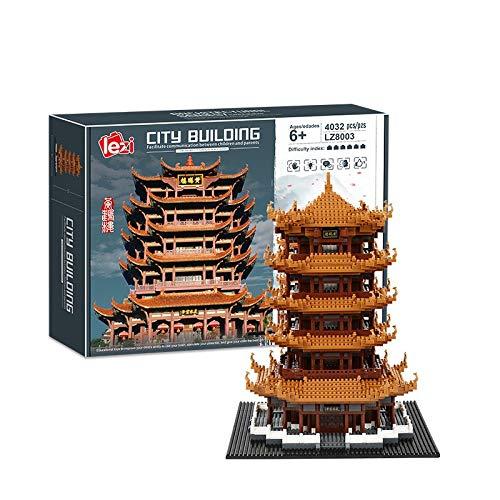 4000+Pcs Yellow Crane Tower Mode...