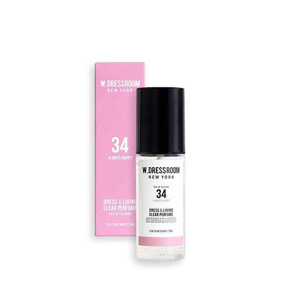 デュアルスリチンモイ凍るW.DRESSROOM Dress & Living Clear Perfume 70ml/ダブルドレスルーム ドレス&リビング クリア パフューム 70ml (#No.34 Always Happy) [並行輸入品]