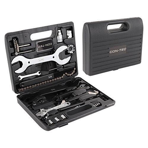 CONTEC Fahrrad Werkzeugkoffer Set 36-teiliges Komplettset, handlicher Kunststoffkoffer