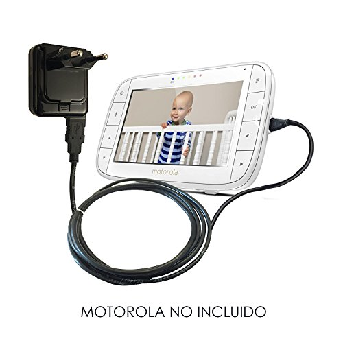ReemplazoMotorolaBatería Cargador Adaptador Fuente de alimentaciónparaMBP33S, MBP35S, MBP36XL, MBP38S, MBP41S, MBP43S, MBP48, MBP50, MBP85, MBP853, MBP854, MBP855, MBP867 Vigilabebés/bebé Monitor