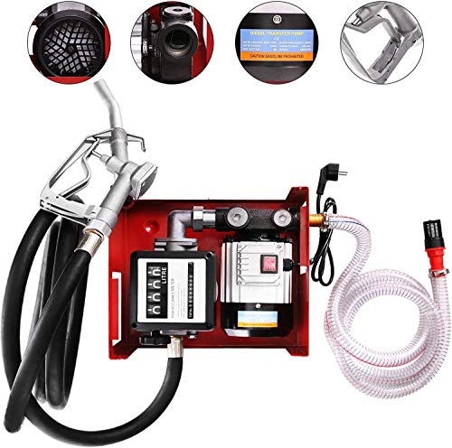 Bomba de Transferencia 60 L/min Autocebado de Combustible Eléctrica Bomba de Transferencia Diésel de 550 W Kit de Dispensación de Bomba de Combustible Bio-Aceite Diesel Keroseno 2.800 r/min