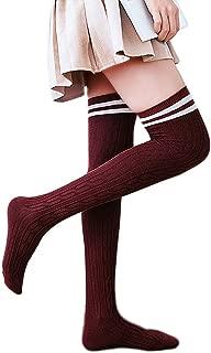 オーバーニー ソックス 柔ら 綿 サイハイソックス 80cm太もも丈 ストッキング 超ロングソックス 通学 通勤 美脚 無地 靴下 レディース ニーハイ キンドウ丸製作