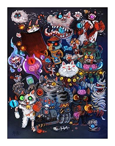 AMYHY Halloween-Party-Katze Puzzle 1000 Stück for Erwachsene - Souvenirs Puzzle Spielzeug for Kinder pädagogisches Spielzeug-Set, IQ Entwicklung Spielzeug Wohnkultur Wand-Kunst