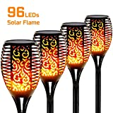 Otdair Solar Torch Lights Waterproof Flickering Flame Solar Torches...
