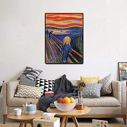 de schreeuw klassieke kunst reproductie canvas poster afdrukken schilderij kunst aan de muur foto's voor de woonkamer home decor / 60x80cm geen frame