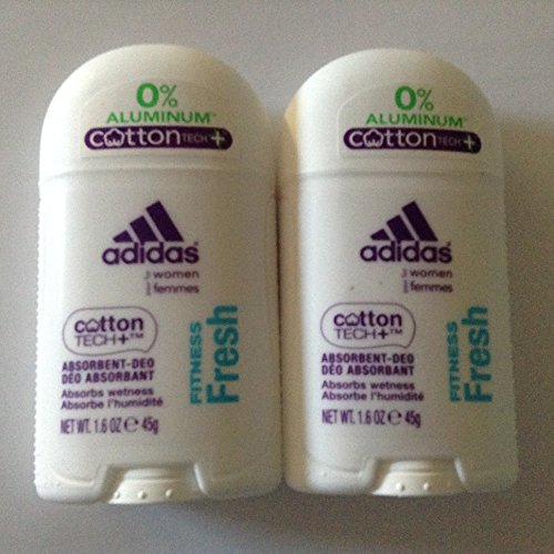 2 Pack-Adidas Deodorant for Women Fitness Fresh Cotton Tech+ Absorbent