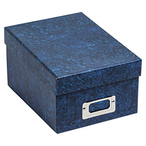 The Photo Album Company Photo Storage Box Holds 700 Photographs Blue for 4x6 Pictures ALBOX700BLUE