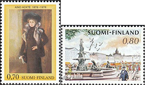 Finland Mi.-Aantal.: 786,788 (compleet.Kwestie.) 1976 Aino Ackté, Marktplaats (Postzegels voor verzamelaars) schilderij