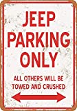 HiSign Jeep Parking Only Zinn Wandschild Retro Eisen