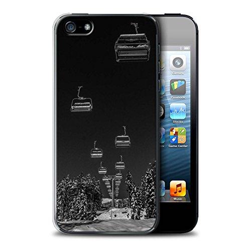 Stuff4 Hülle/Case für Apple iPhone SE/Ski Aufzug Muster/Skifahren/Snowboard Kollektion