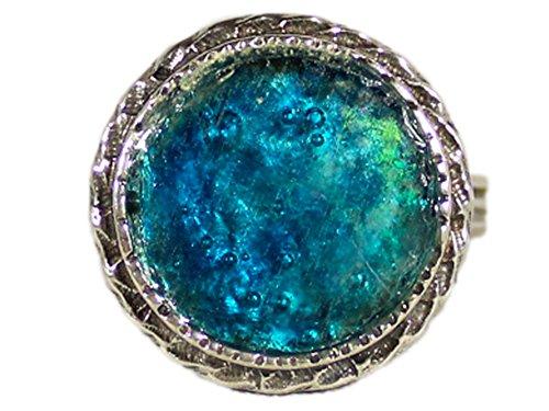 Niibuhr Jewelry Anello da Donna Regolabile Argento 925 con Vetro Romano Antico di 2000 Anni | Gioiello dell'Antico Impero Romano| Artigianali con Frammenti di Vetro Rivenuti da Scavi Archeologici