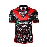2019 St. George Hero Edition Jersey de Rugby, Jersey pour Hommes, T-Shirt à Manches Courtes en Maillot de Formation, Chemise de Sport,Photo Color,L