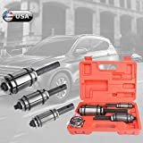 Tail Pipe Expander Kit 3pcs/Set, Airpow Car Tail Pipe Muffler Exhaust Expander Kit - Muffler Spreader Tool Boxes, 1-1/8inch to 3-1/2inch ID, with 6 Extra O-Rings (US Stock, Fast Delivery)