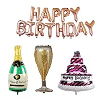 GuassLee 風船 バースデー風船 シャンパンバルーン カップバルーン ケーキバルーン 誕生日パーティー飾り