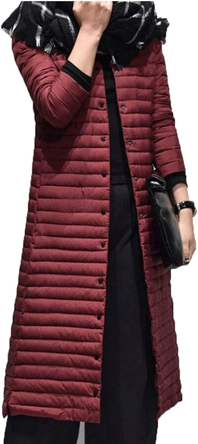 WSPLYSPJY Women's Stand Collar Quilted Long Down Jacket Puffer Coat
