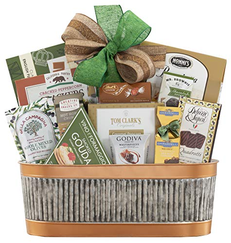 Remarkable Gift Co. Sweet and Savory Collection Favorite Gift Basket With Cookies, Crackers, Chocolate and More