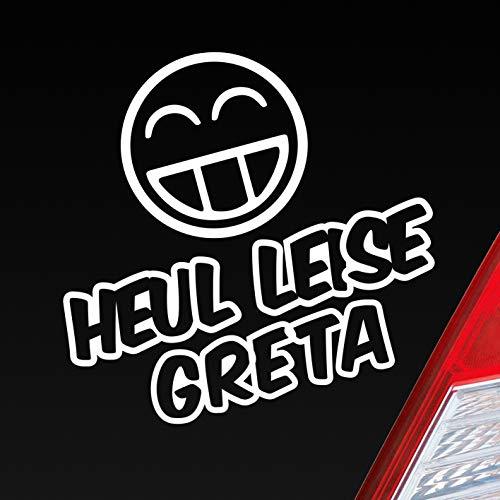 Auto Aufkleber in deiner Wunschfarbe Heul leise Greta Umwelt Fridays for Future ca. 11 x 10 cm Autoaufkleber Sticker