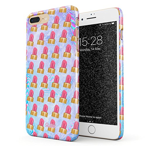 Glitbit Hülle Kompatibel mit iPhone 7 Plus / 8 Plus Lipsitck Emoji Makeup Pattern Tumblr Makeup...