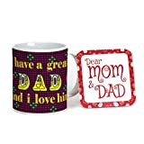 Indigifts Fathers Day Gifts I Love Dad Ethnic Coffee Mug 330 ml Violet