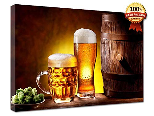 LaboratorioRadice Quadri Moderni su Tela cm 20 x 29 - Varie Immagini per Ogni Ambiente Birra E Botte 01