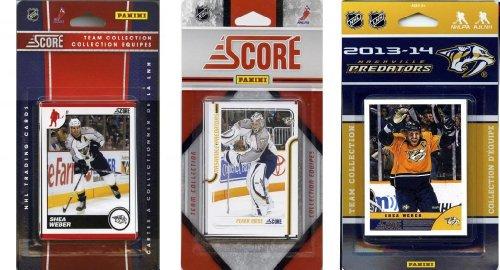 C & I Collectables NHL Nashville Predators 3 Verschiedene lizenzierte Sammelkarten-Team-Sets