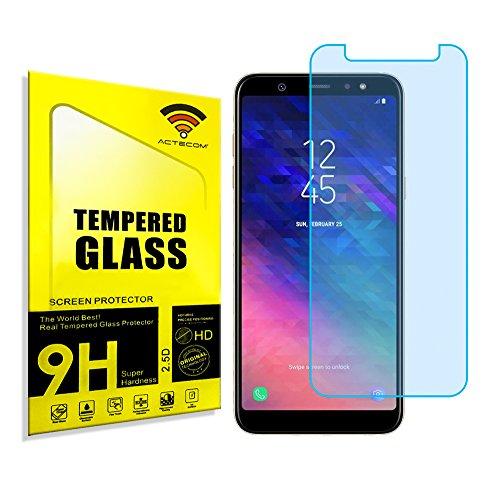 actecom® Protector DE Pantalla Compatible para Samsung Galaxy A6 2018 Cristal Templado