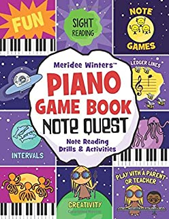 Meridee Winters Note Quest (Piano Game Book): Note Reading D