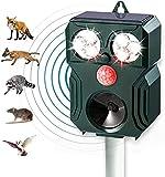 Repellente Gatti,Repellente Ultrasuoni Solare,5 Modalità di Frequenza Regolabili e Impermeabilità,Uccelli,Piccioni, Cani, Gatti, Topi
