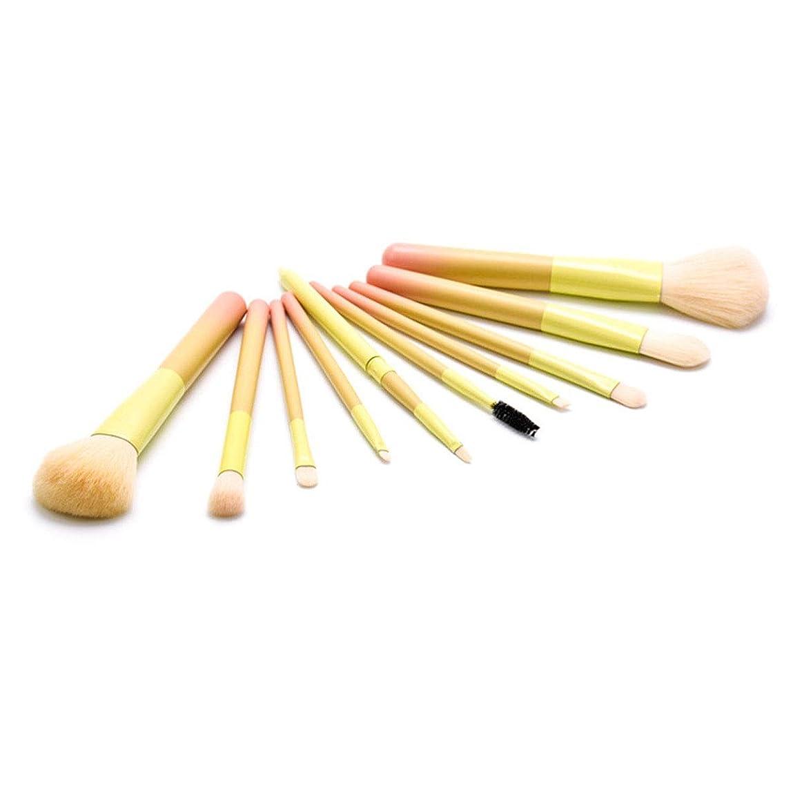 抗議パターン驚き化粧用品 バケツ付き-10個グラデーション化粧ブラシエクスポートファンデーションブラッシュブラシアイブロウブラシフルセットの化粧美容ツール