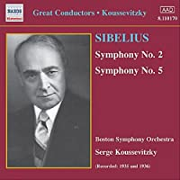 シベリウス:交響曲第2番, 第5番(クーセヴィツキー )(1935-1936)