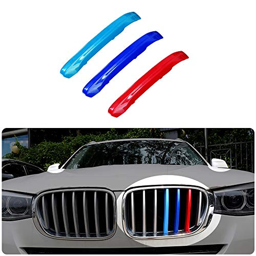 Für 11-17 X3 X4 F25 F26 (7Gitter) 3 Colors M Styling Front Grille Trim Strips Cover Stickers 3Stück
