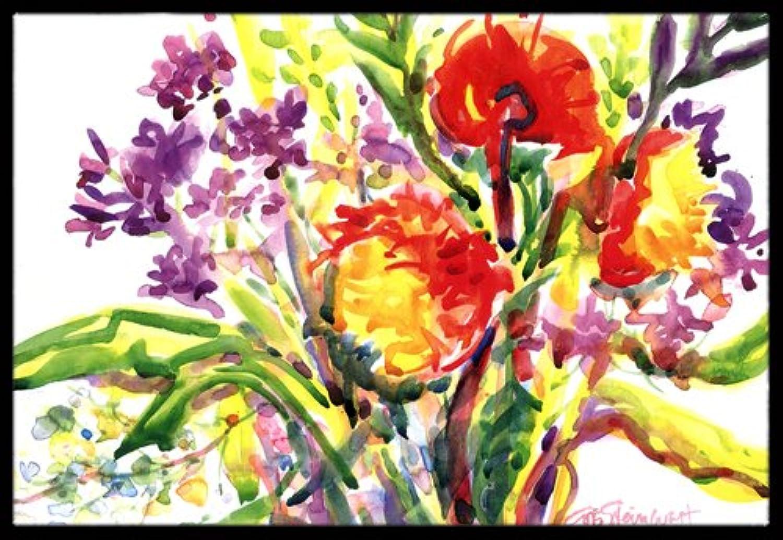 Caroline's Treasures Flower Indoor or Outdoor Doormat, 24  x 36 , Multicolor