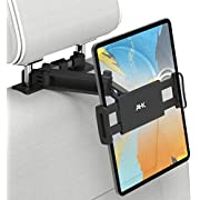 """AHK Car Tablet Holder, Upgraded Stretchable Seat Headrest Mount With 360 Rotation for 4.4~11"""" iPad, iPhone, Galaxy Tabs, HUAWEI Mediapad, Nintendo Switch, and all Smartphones - Black"""