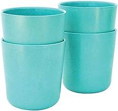 EKOBO Biobu 15 oz Gusto Cup Set (4 Pack), Large, Lagoon
