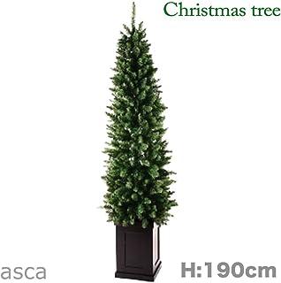 190cm クリスマスツリー スリム タイプ コンテナ 付き L.コンテナツリー asca アスカ AX68751