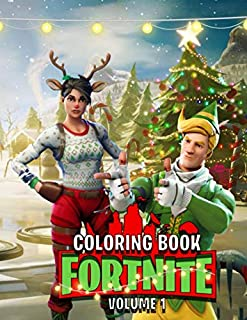 Fortnite Christmas Coloring Book: Unoffical Coloring Books for Kids and Adults