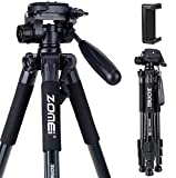Camera and Phone Tripod 55-inch Q111 Tripod Stand Protable Light Weight Video Selfie for Canon Nikon...