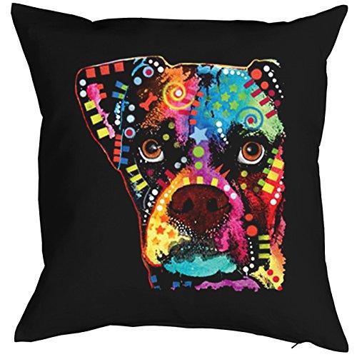 Boxer Cubism Pillow, oreiller, almohada, Cuscino Pop Art Style