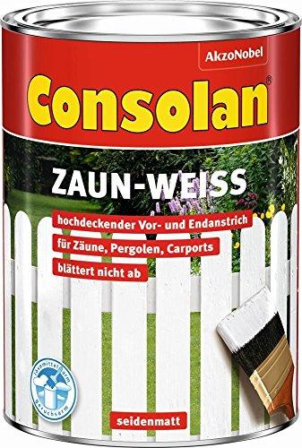 2,5 Liter Consolan Wetterschutz Zaun-Weiß