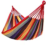 KEPEAK Hamaca de Lona Doble, Hamaca de Lona de jardín Transpirable y cómoda para Camping, jardín, Patio, Interior y Exterior