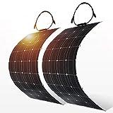 Kits de sistema de paneles solares de 100W 12V 200W 4 piezas en el cargador de batería flexible monocristalino Módulo MC4 cable de batería de coche y barco y Home 200W 300W 1000W panel solar 18V