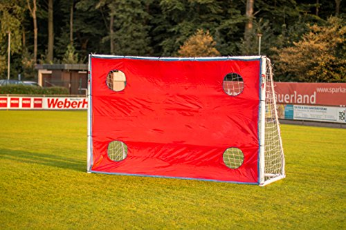 POWERSHOT® Torwand Fußball - Handball - Verschiedene Größen - 4 Schusslöcher - Reisfest (Torwand 2,4 x 1,8m)