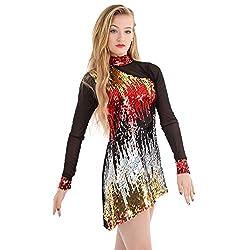 Gia Mia Womens Luminous Dress Performance Dance Costume