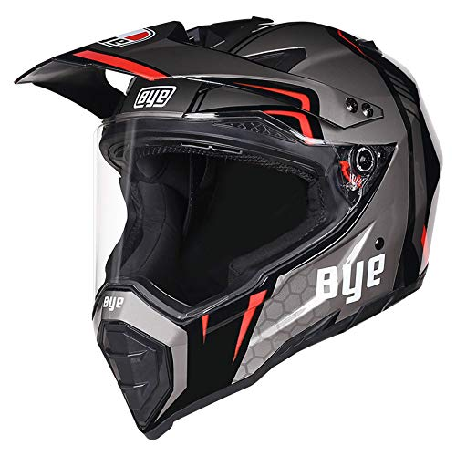 Woljay Integralhelm Lokomotive Motorradhelm Zubehör Offroad Helm Motocross DOT Zertifiziert (Silber,L)