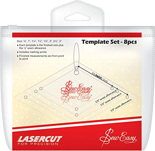 Sew Easy Patchwork Mini-Diamanten Schlabone Set