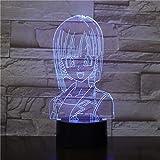 Led Night Lights 3D,Bulma Dragon Ball Z Kindernachtlicht Led Touch Sensor Schlafzimmer Dekorative Lampe Weihnachtsgeschenk Für Kinder 3D Nachtlampe Usb Lampe
