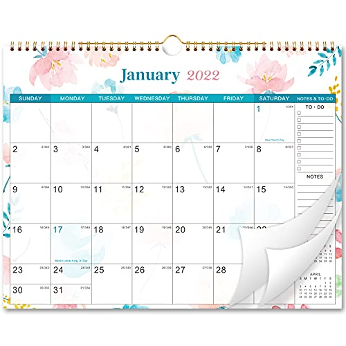 "2022 Calendar - Wall Calendar 2022, Jan - Dec 2022, 12 Months Wall Calendar with Thick Paper, 15"" x 11.5"", Ruled Writing Block, Hung, Perfect Wall Calendar for Organizing & Planning"
