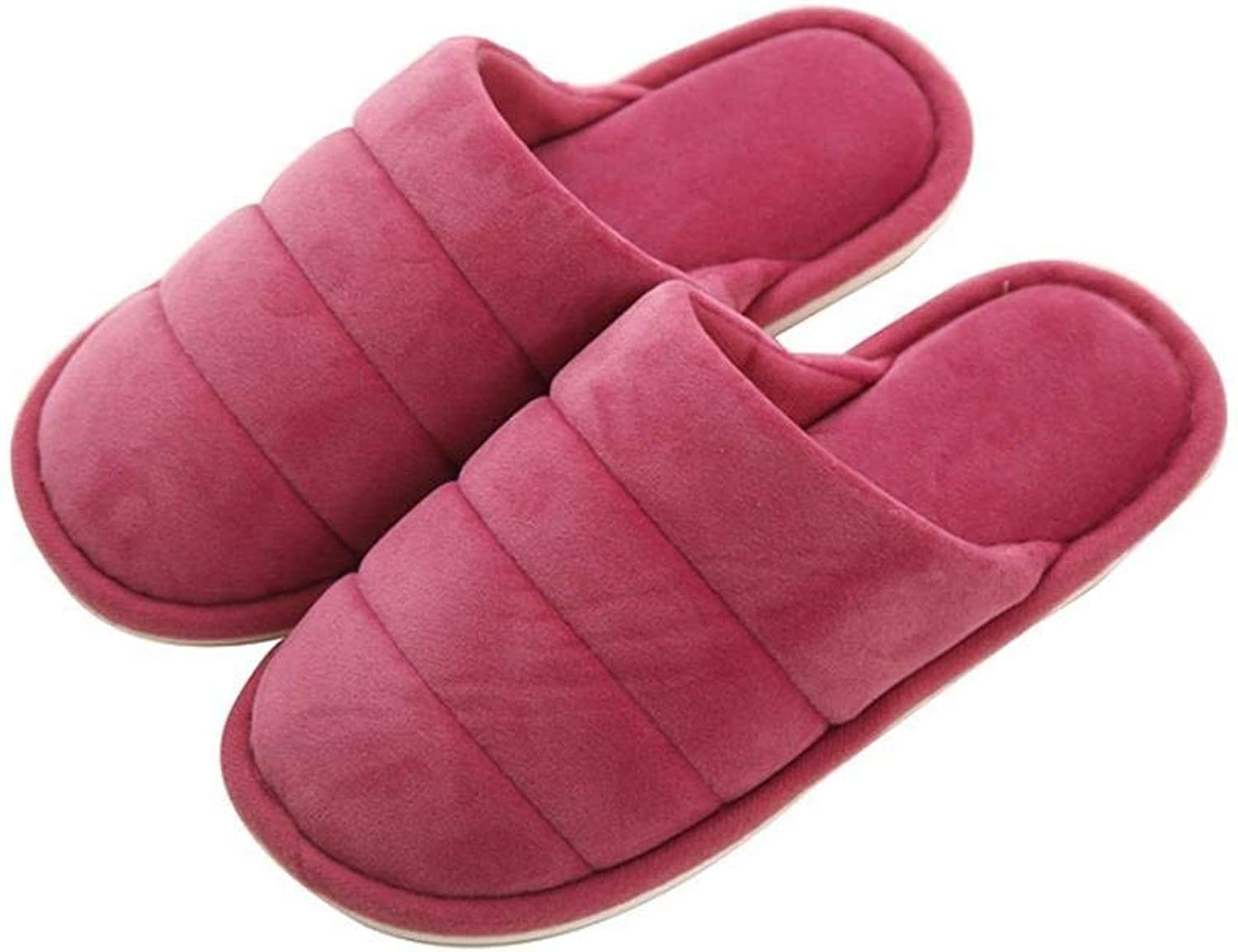GouuoHi Womens Slippers Ladies Home Non-Slip Breathable Super Soft Slippers Autumn and Winter Indoor and Outdoor Solid color Classic Basic Cotton Slippers