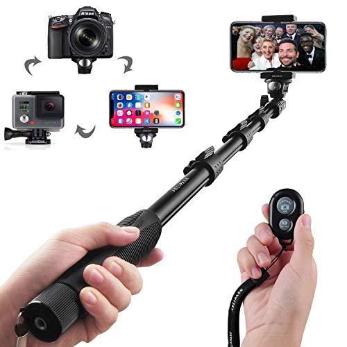 Palo Selfie Bluetooth Inalámbrico Extendible y Profesional Función de Auto-bloqueo Compatible con Sistema Android IOS, Cámaras Digitales, Gopros, y Iphone...