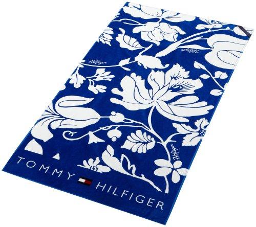 Tommy Hilfiger Herren Schals & Tücher E387801581 / WILD FLOWER TOWEL, Gr. one size, Blau (CYBER BLUE/ CLASSIC WHITE 437)